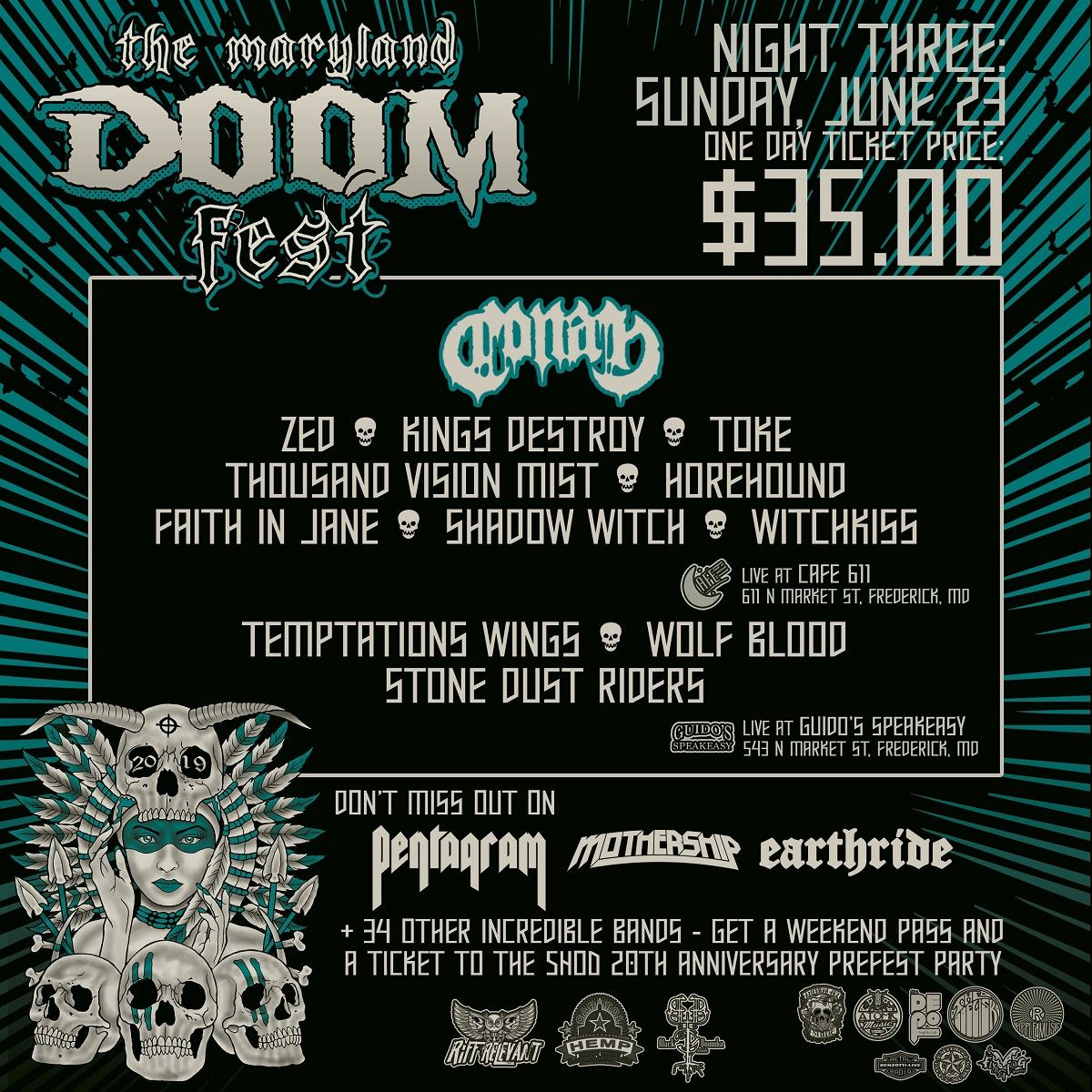 maryland doom fest 2019 night three poster