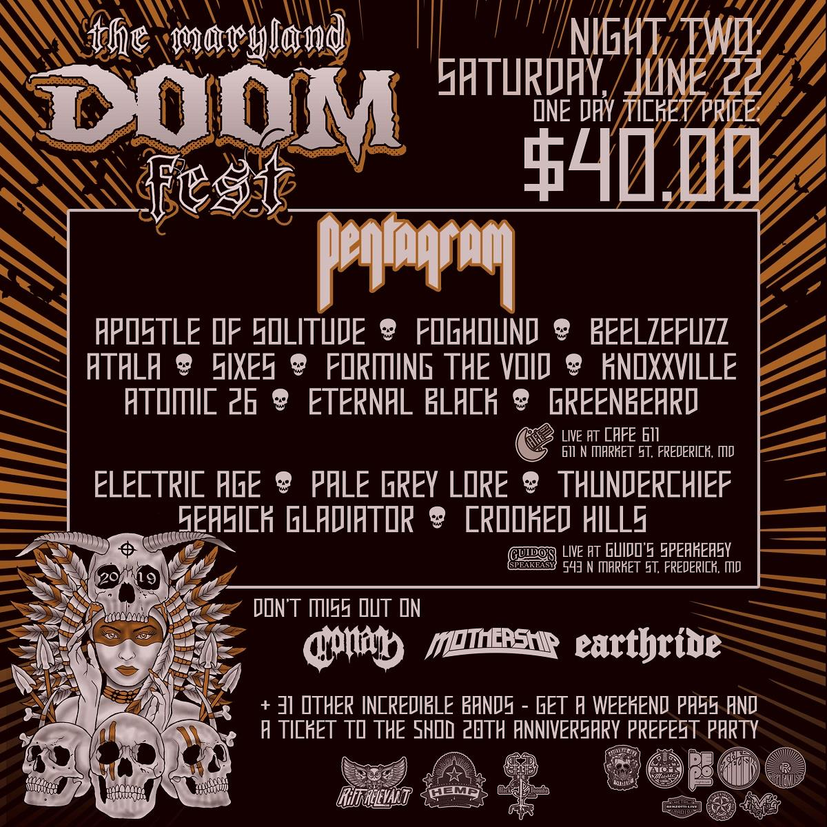 maryland doom fest 2019 night two poster