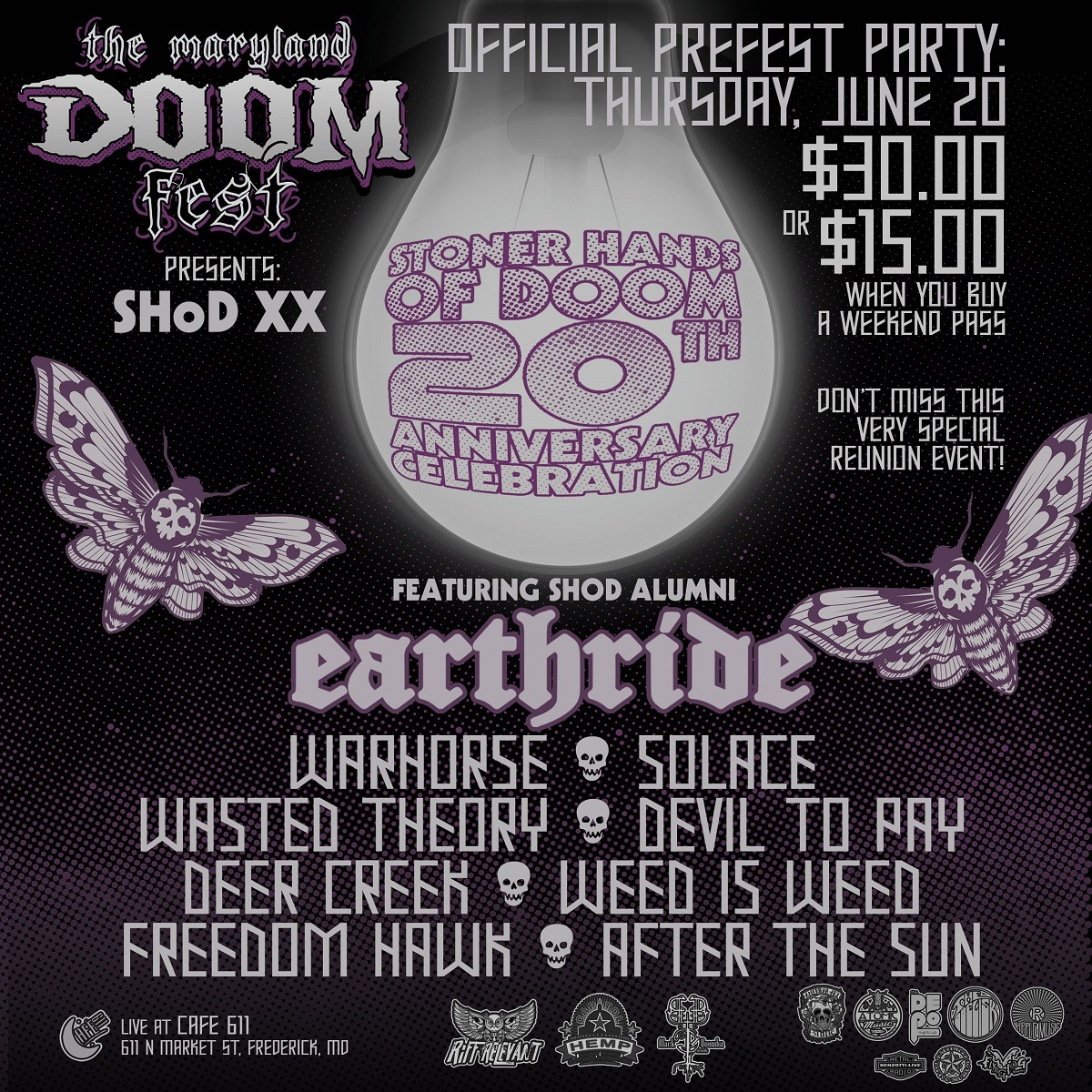 maryland doom fest shod preparty poster