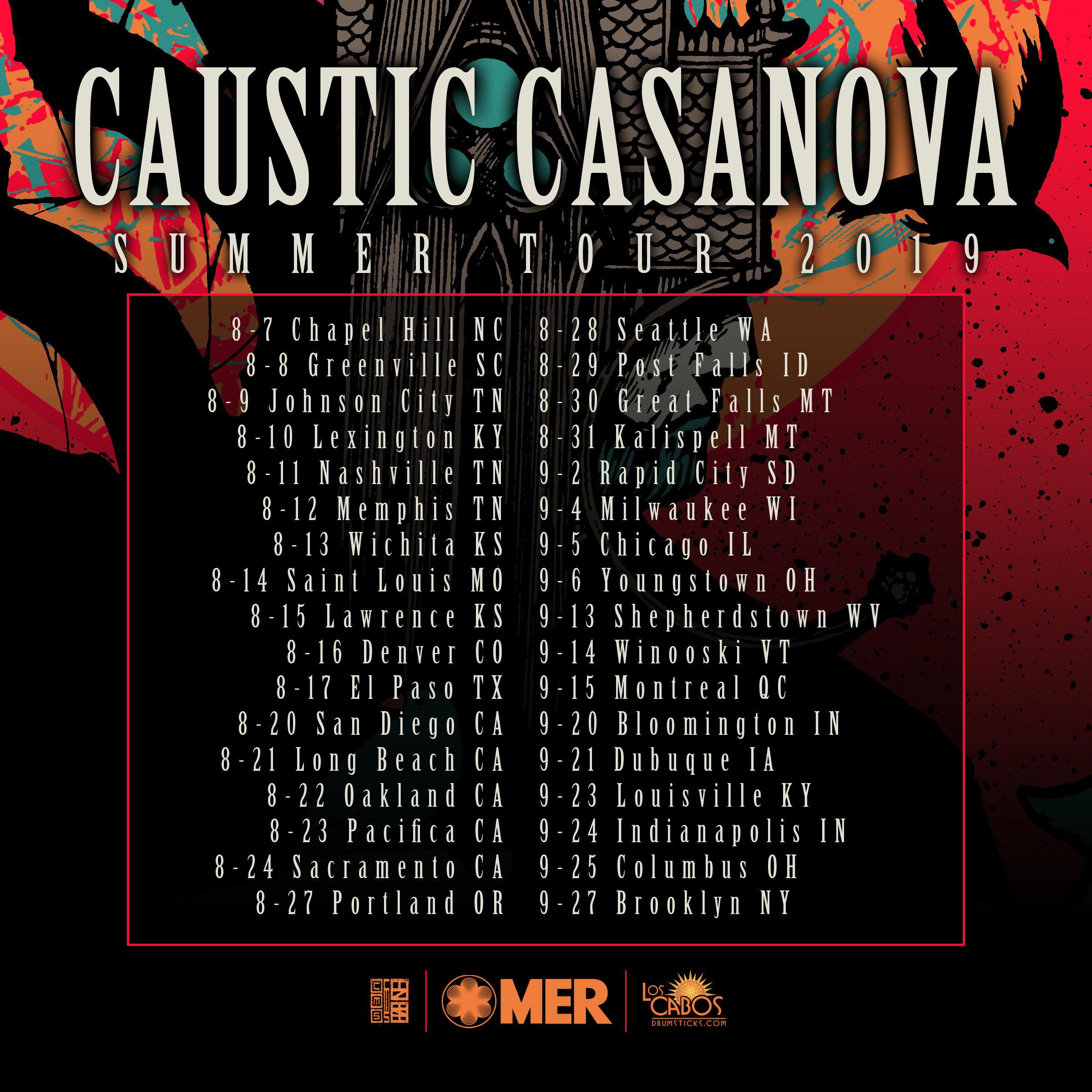caustic casanova summer tour