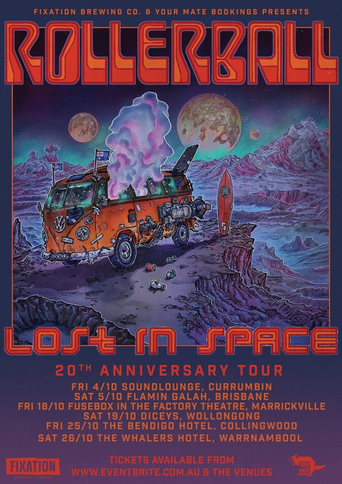 rollerball tour poster