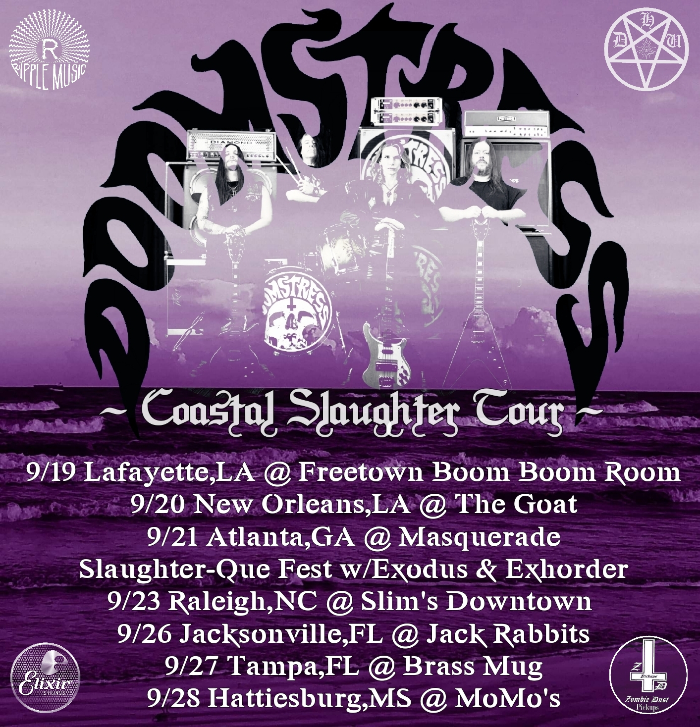 doomstress coastal slaughter tour