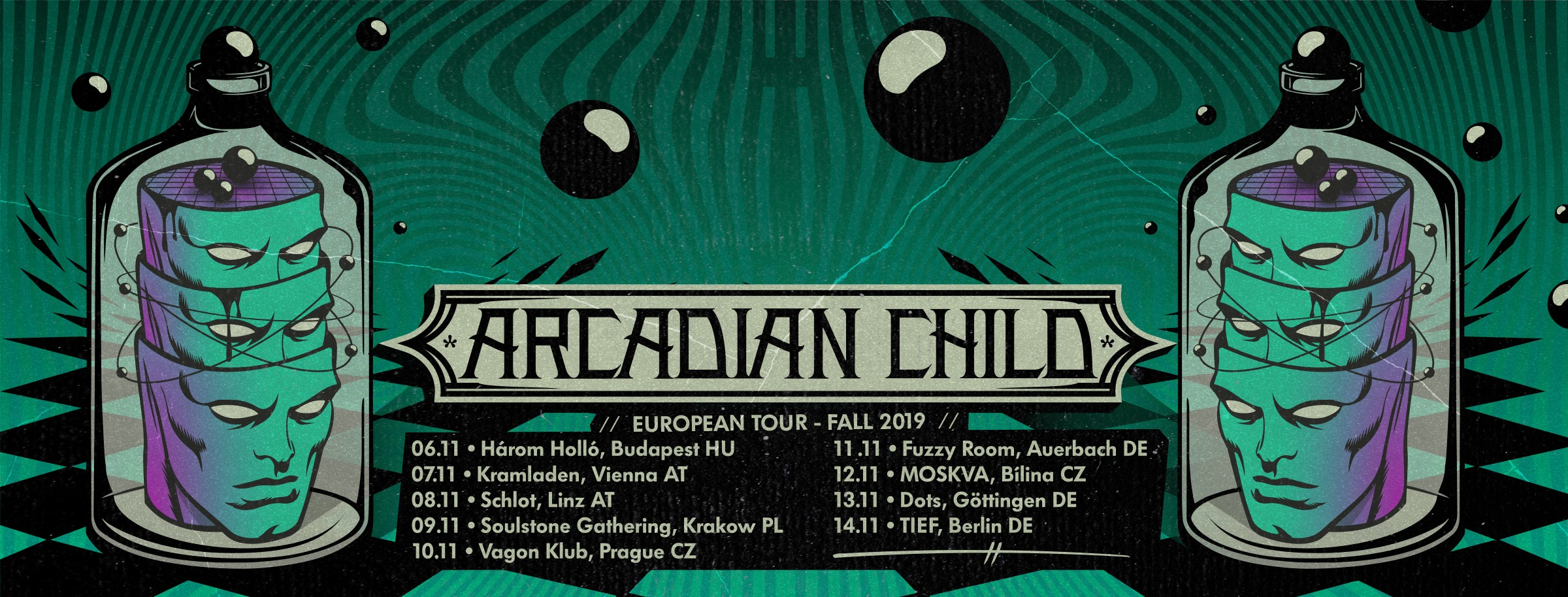 arcadian child tour banner