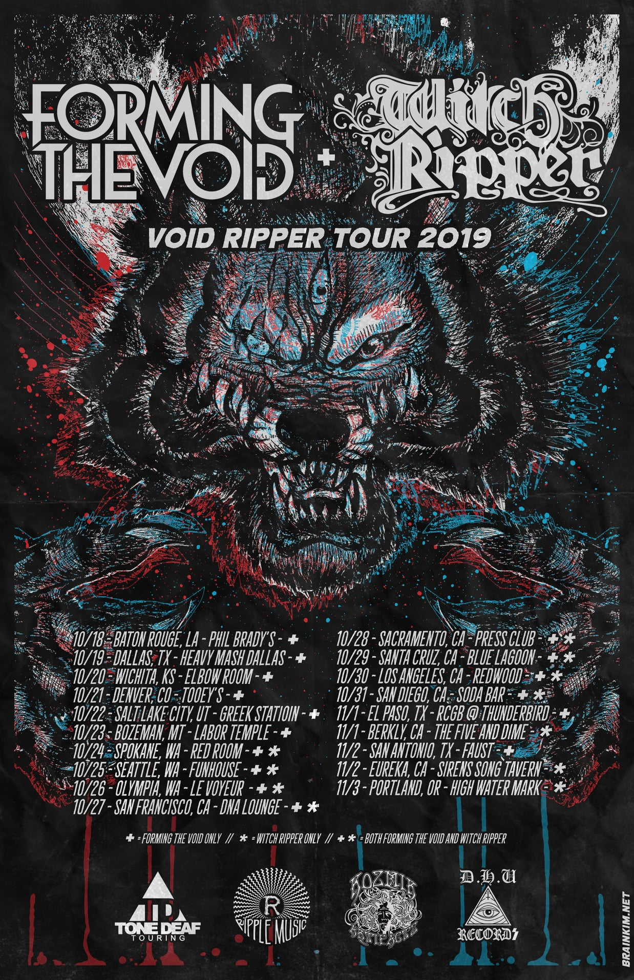 forming the void tour