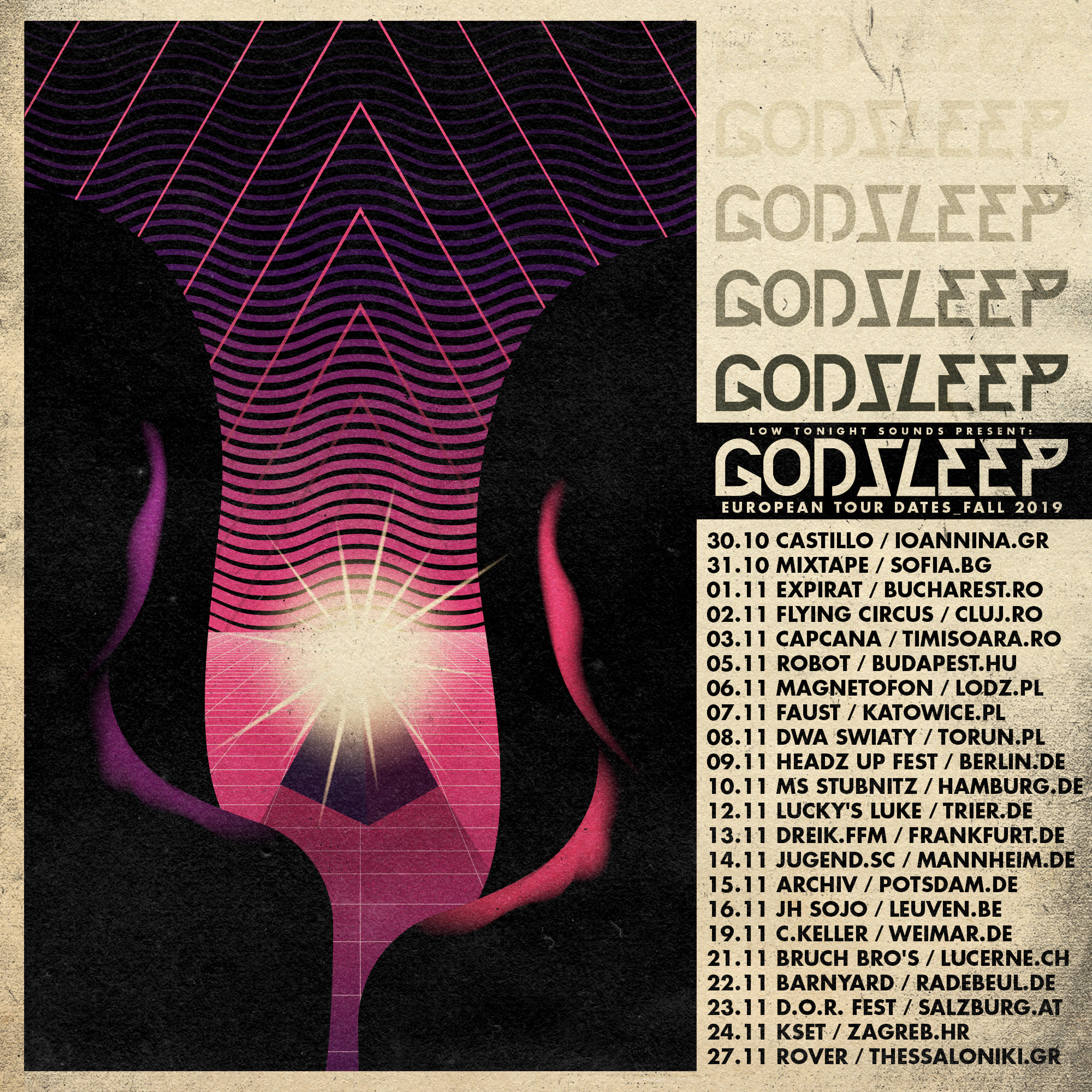 godsleep tour