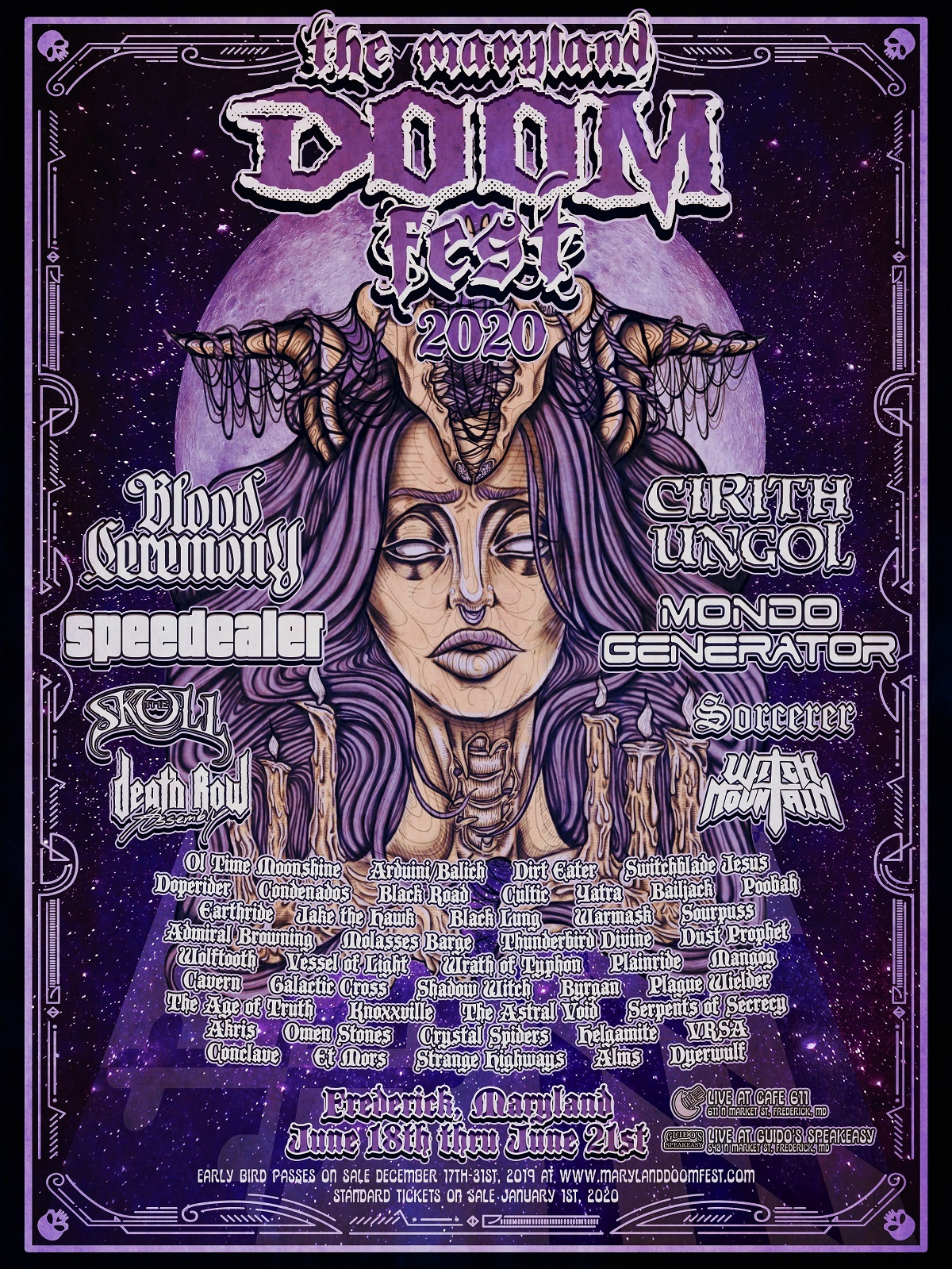 maryland doom fest 2020 poster