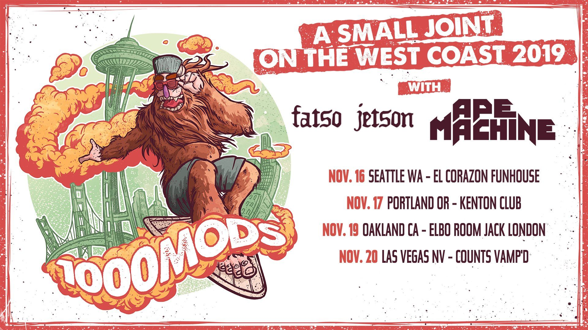 1000mods west coast shows