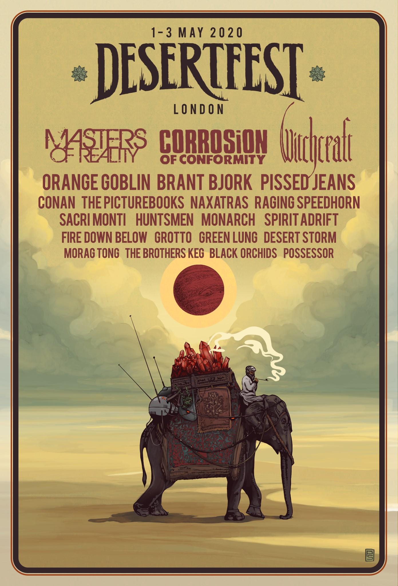 desertfest london 2020 poster