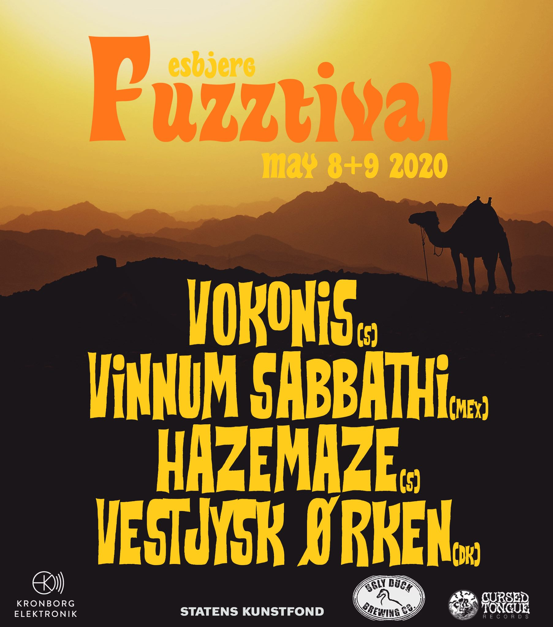 esbjerg fuzztival 2020 first poster