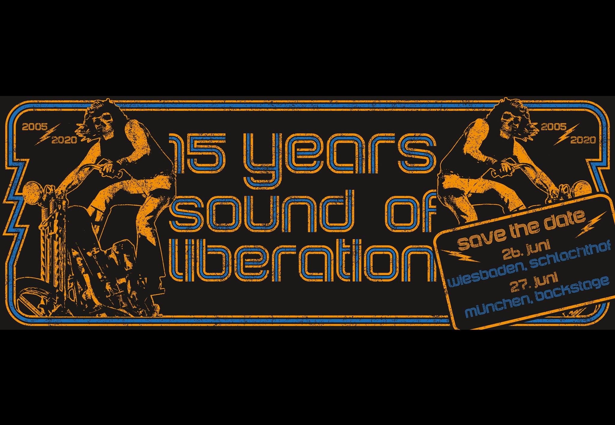 sound of liberation 15 years party banner