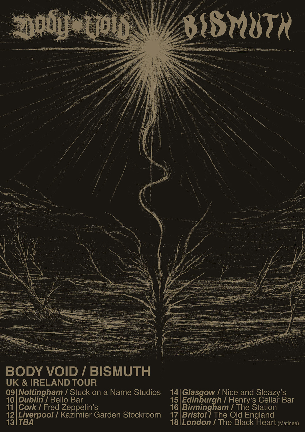 bismuth body void tour