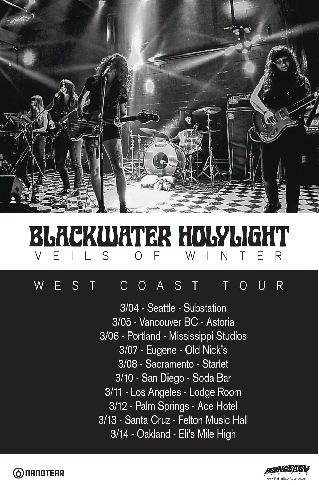 blackwater holylight west coast tour
