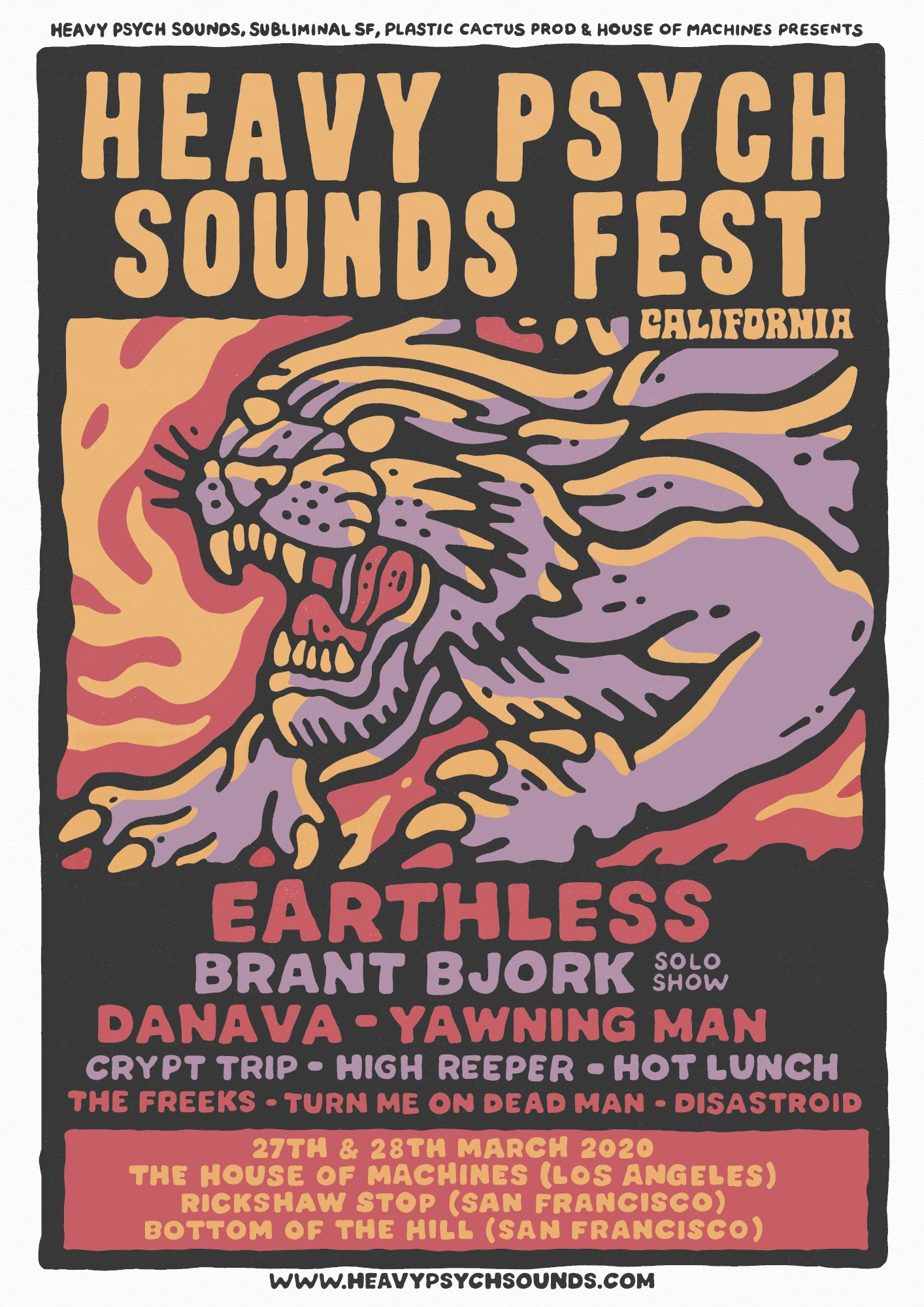 heavy psych sounds fest california 2020 poster