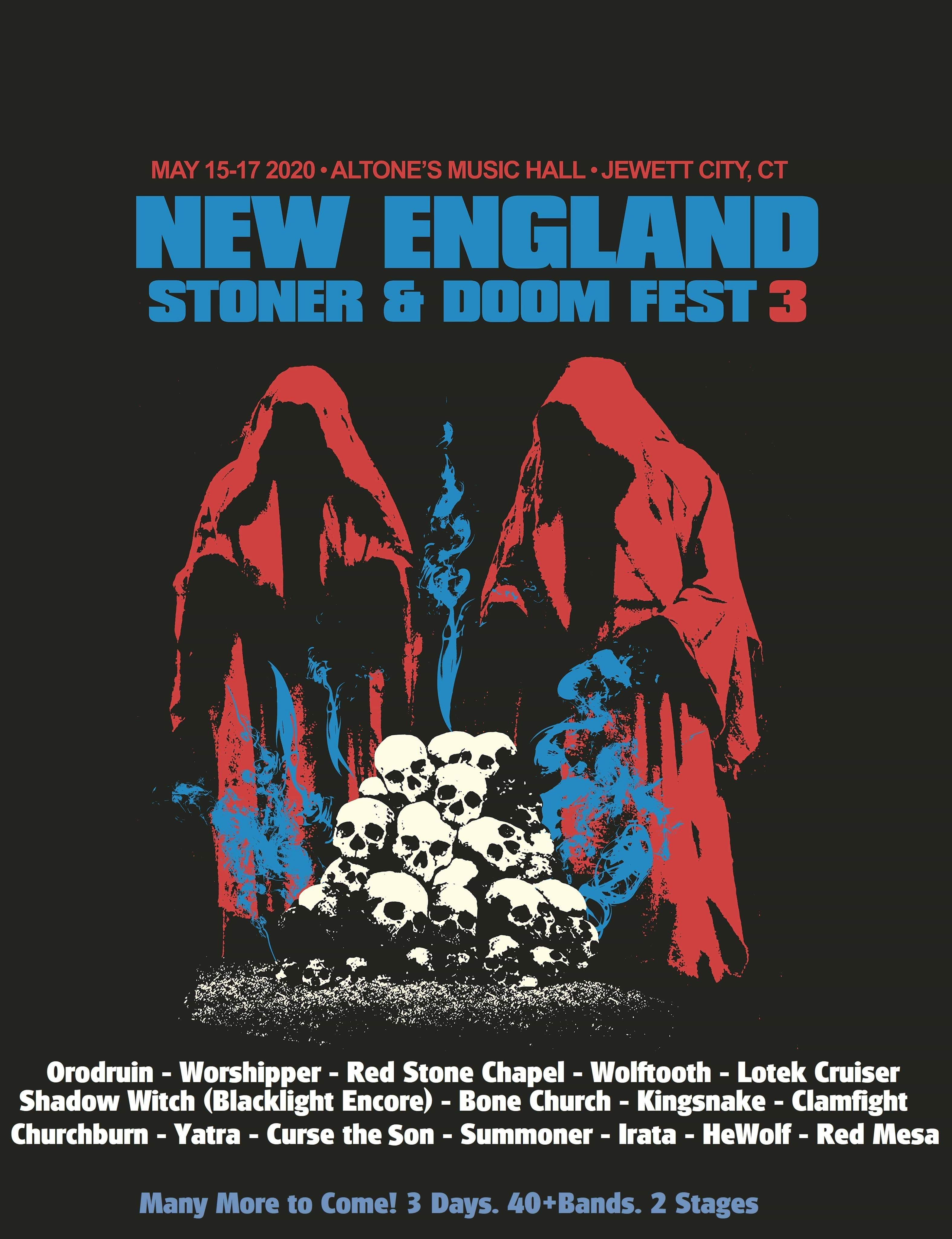 New England stoner and doom fest 2020 poster