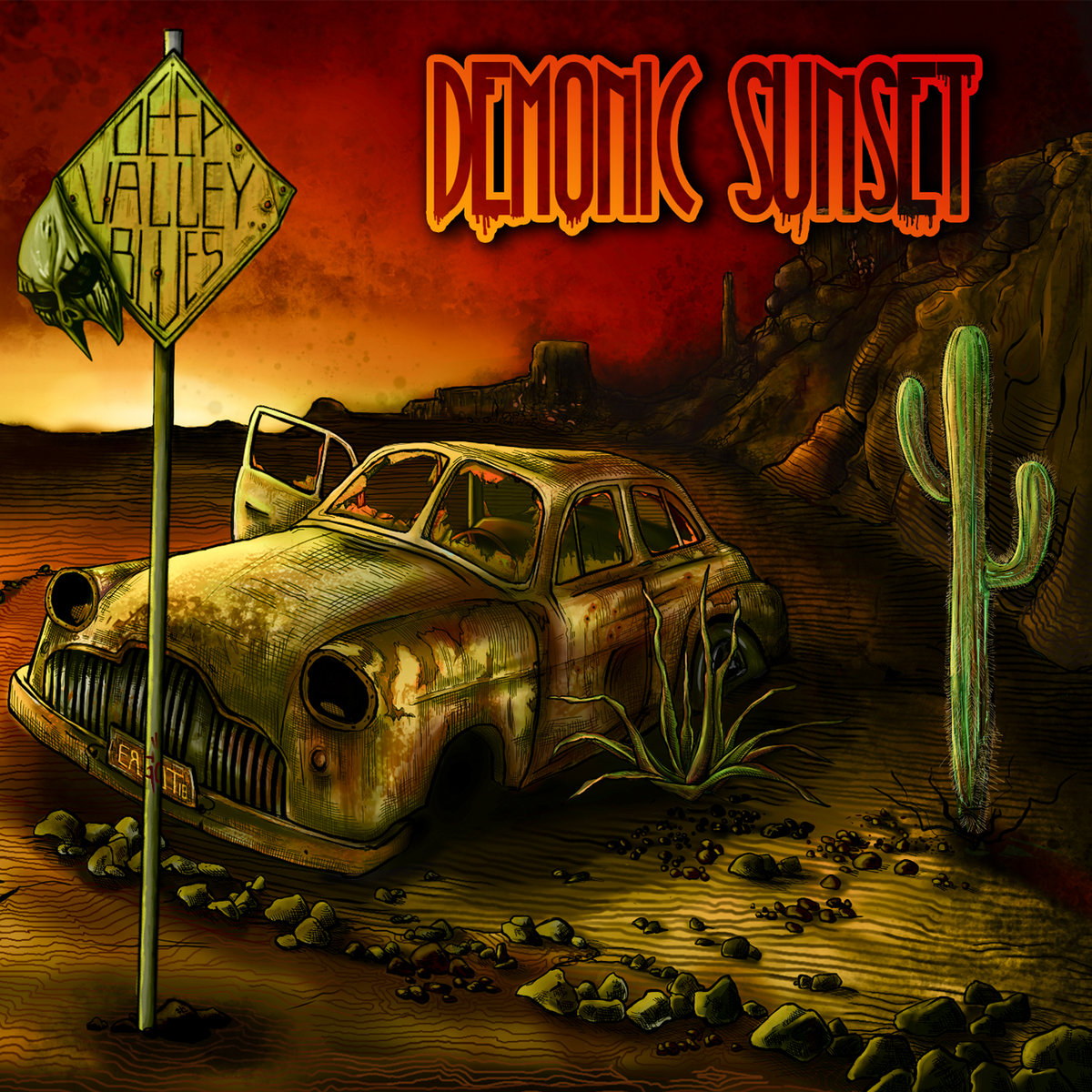 Deep Valley Blues Demonic Sunset