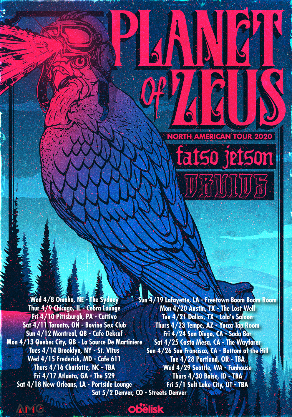 planet of zeus us tour poster