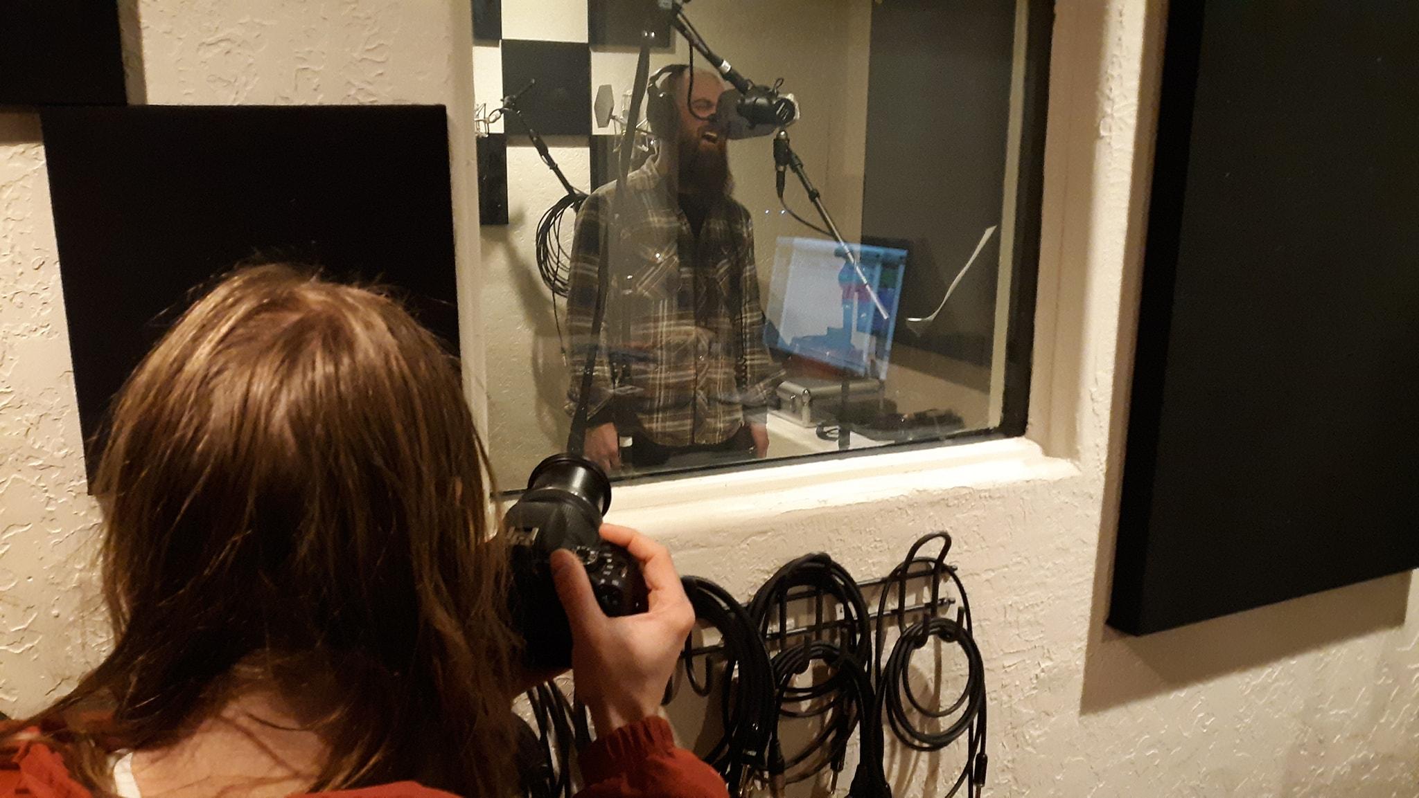 red mesa in studio