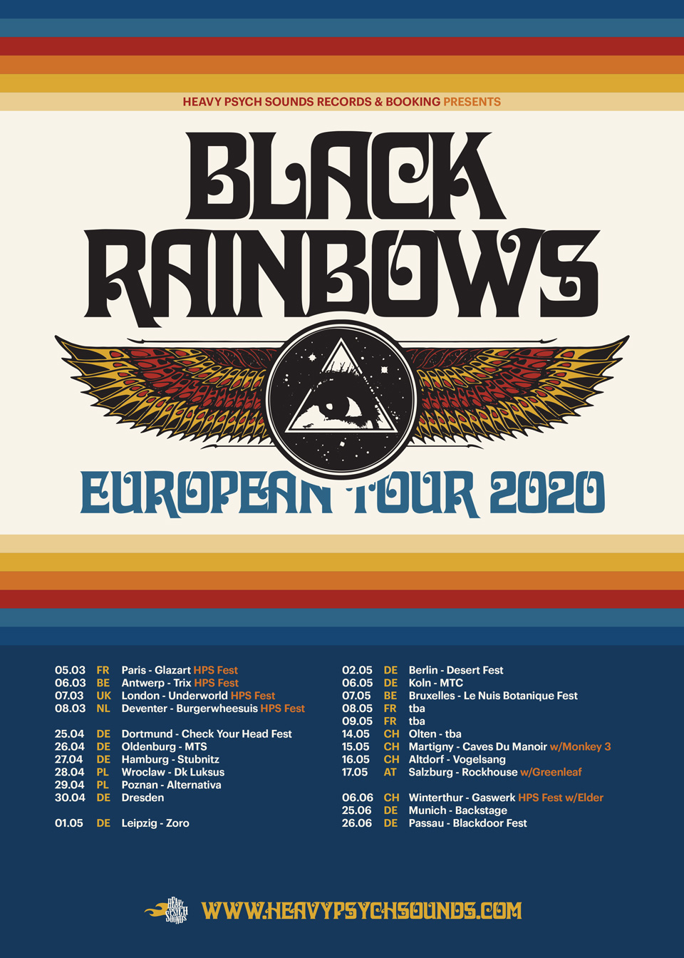 black rainbows euro tour