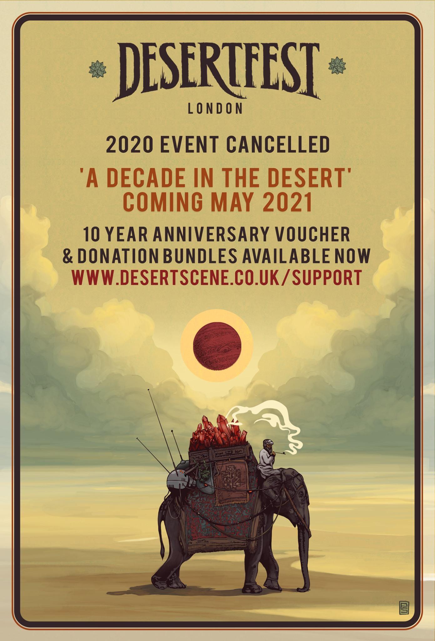 desertfest london 2020 off