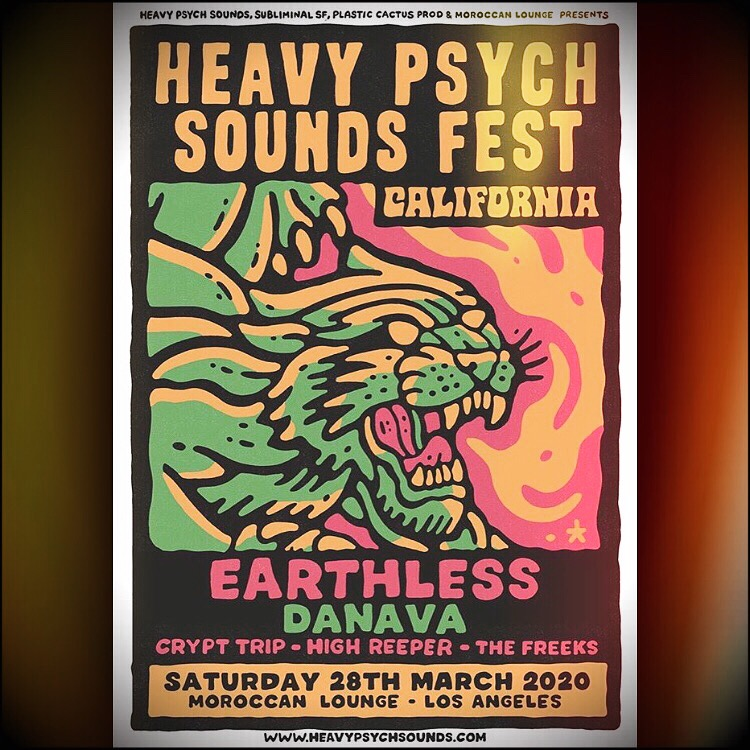 heavy psych sounds fest california poster