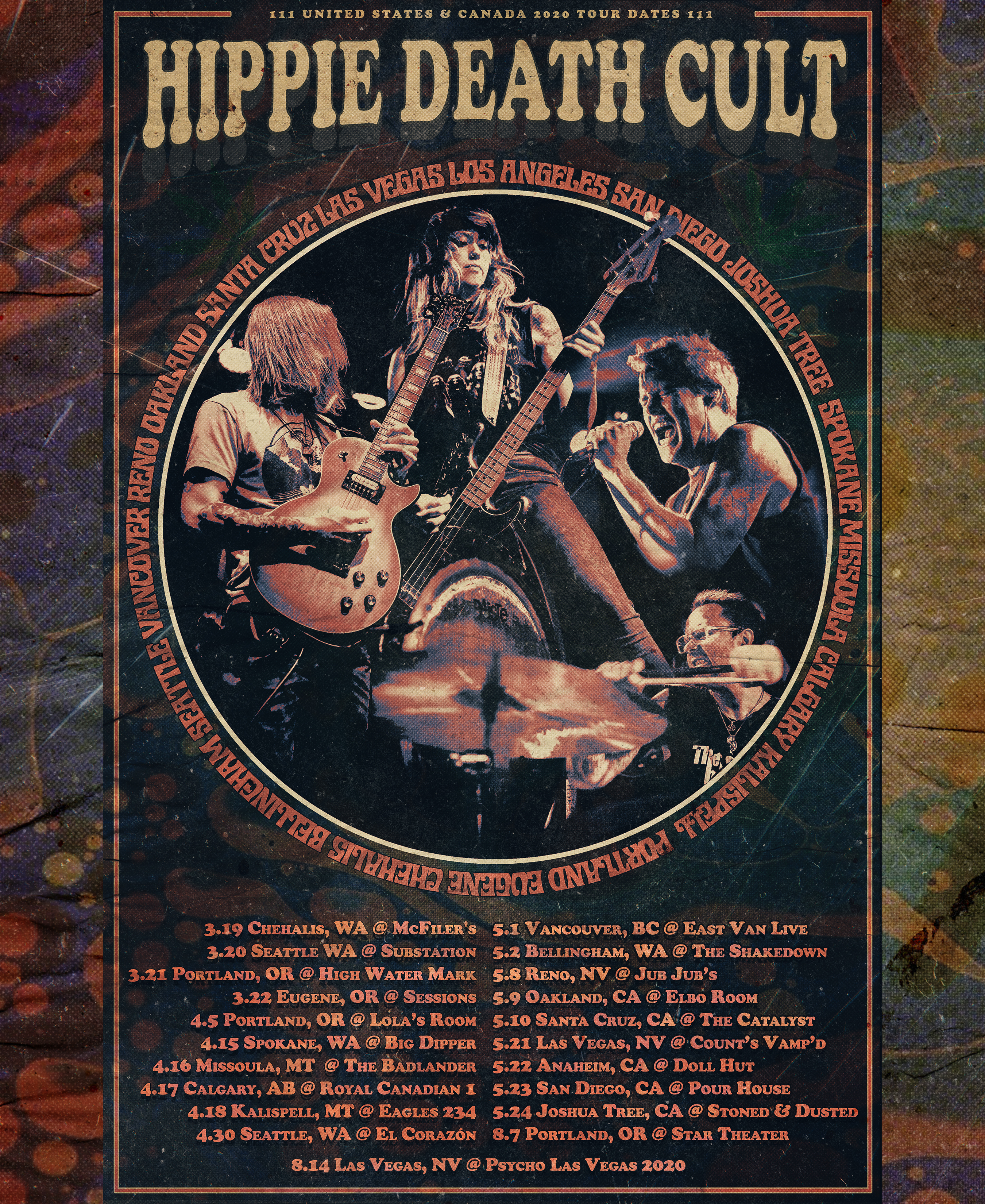 hippie death cult tour