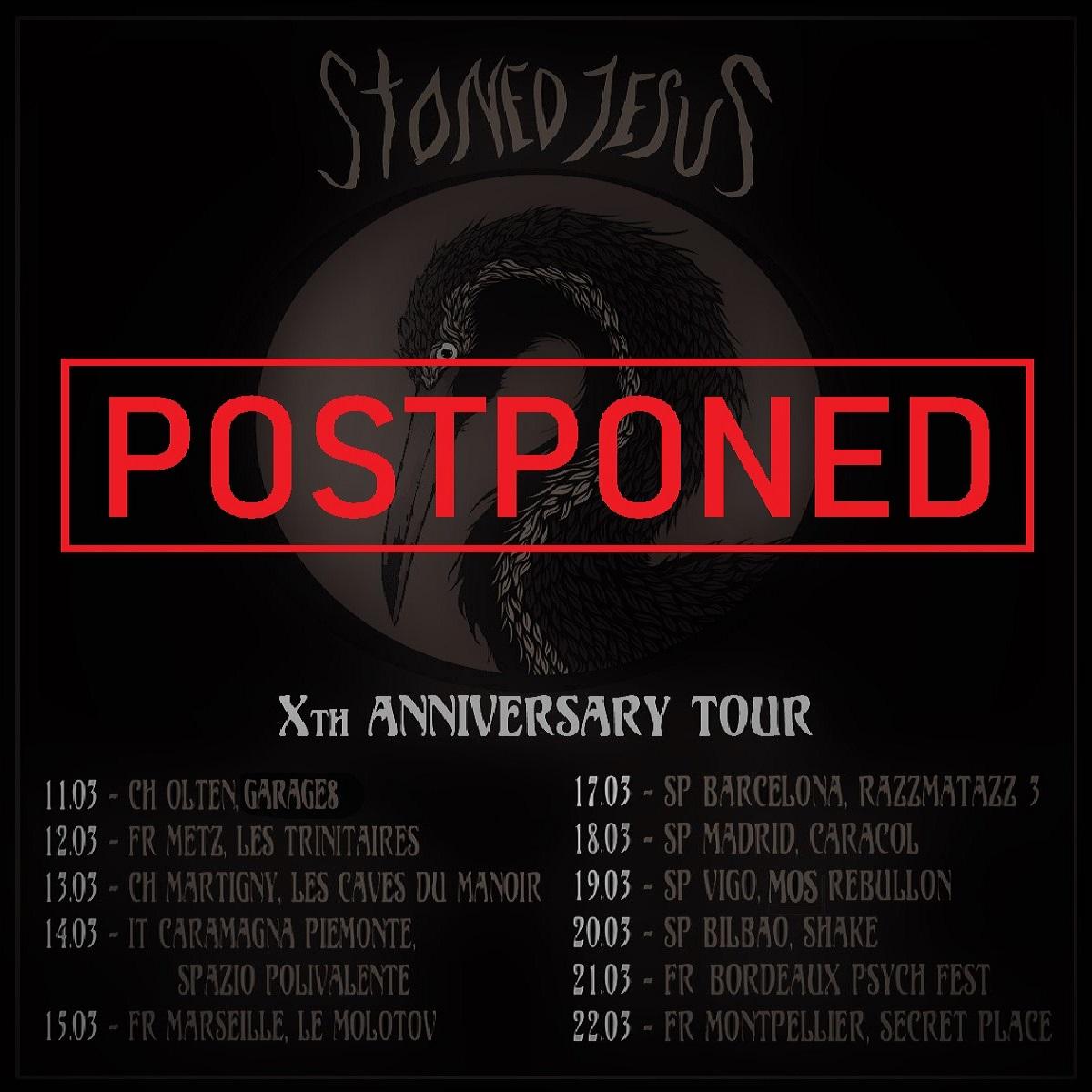 stoned jesus tour postponed