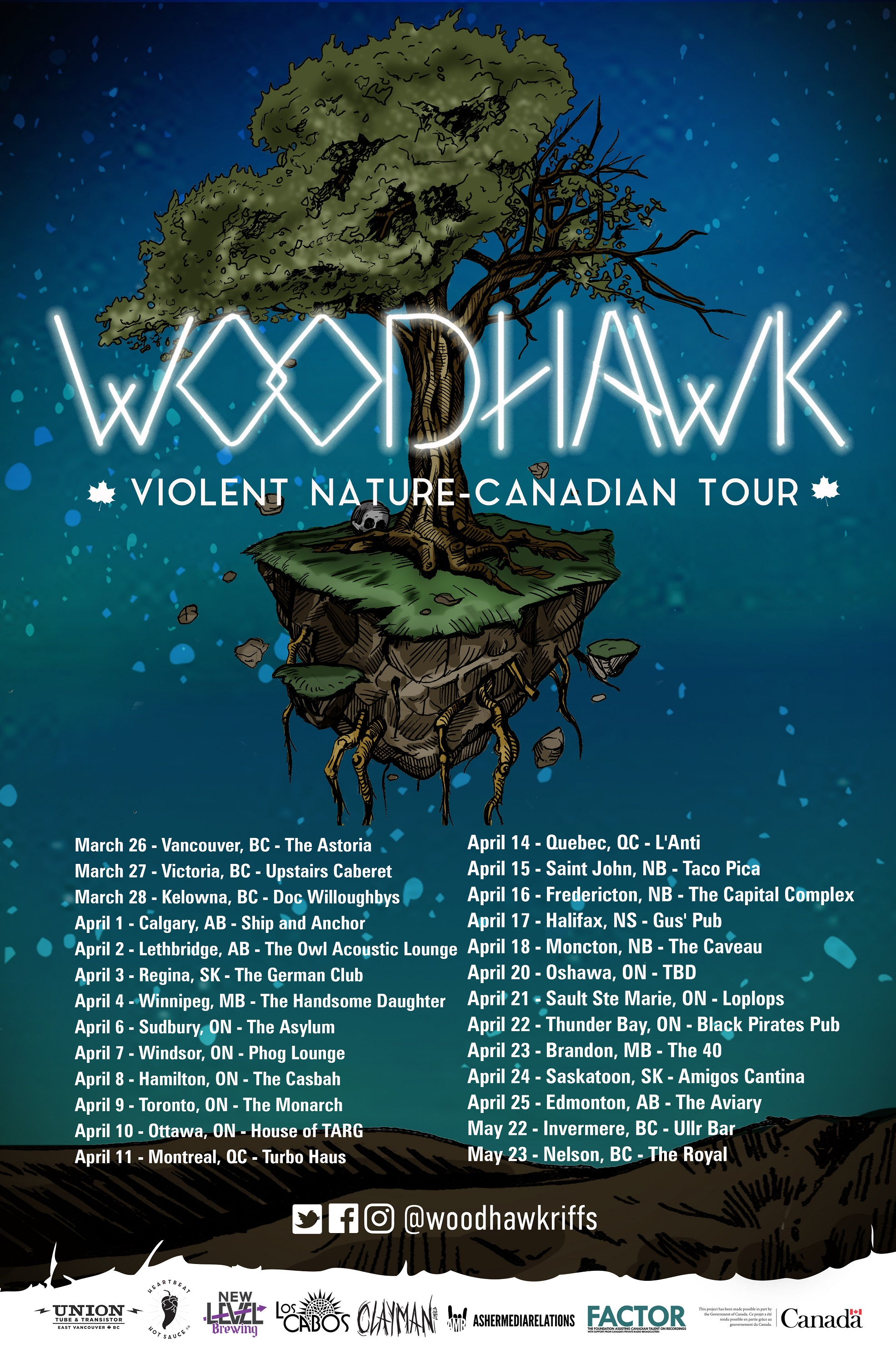 woodhawk canadian tour