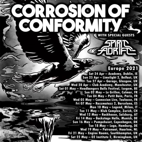 corrosion of conformity eu 2021 tour