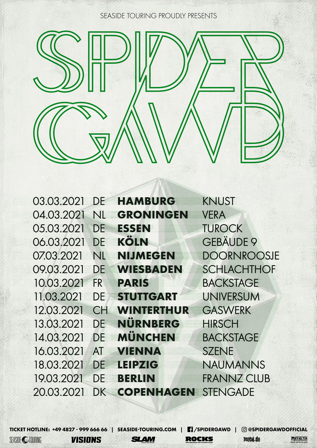 spidergawd vi tour