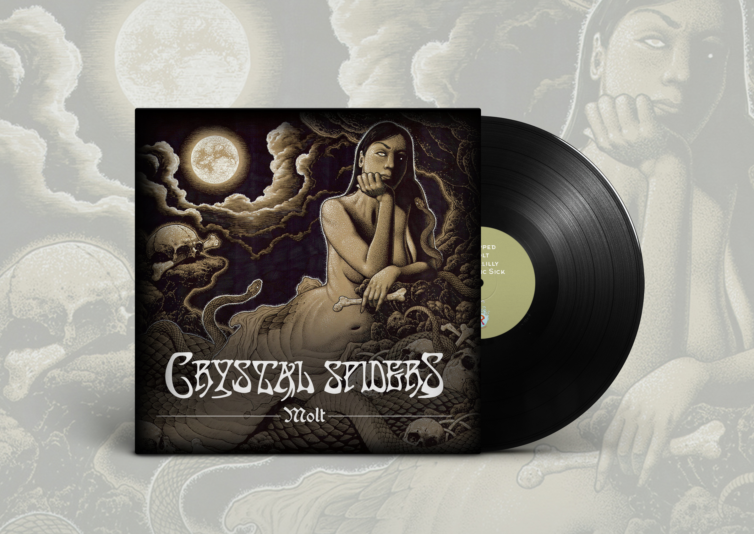 crystal spiders molt vinyl