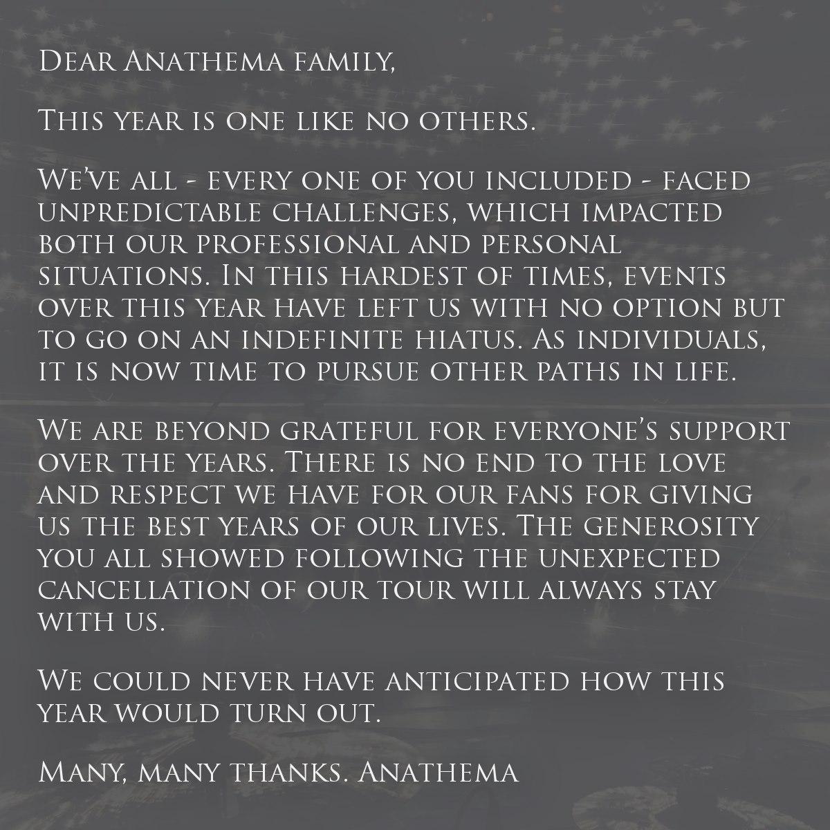 anathema done