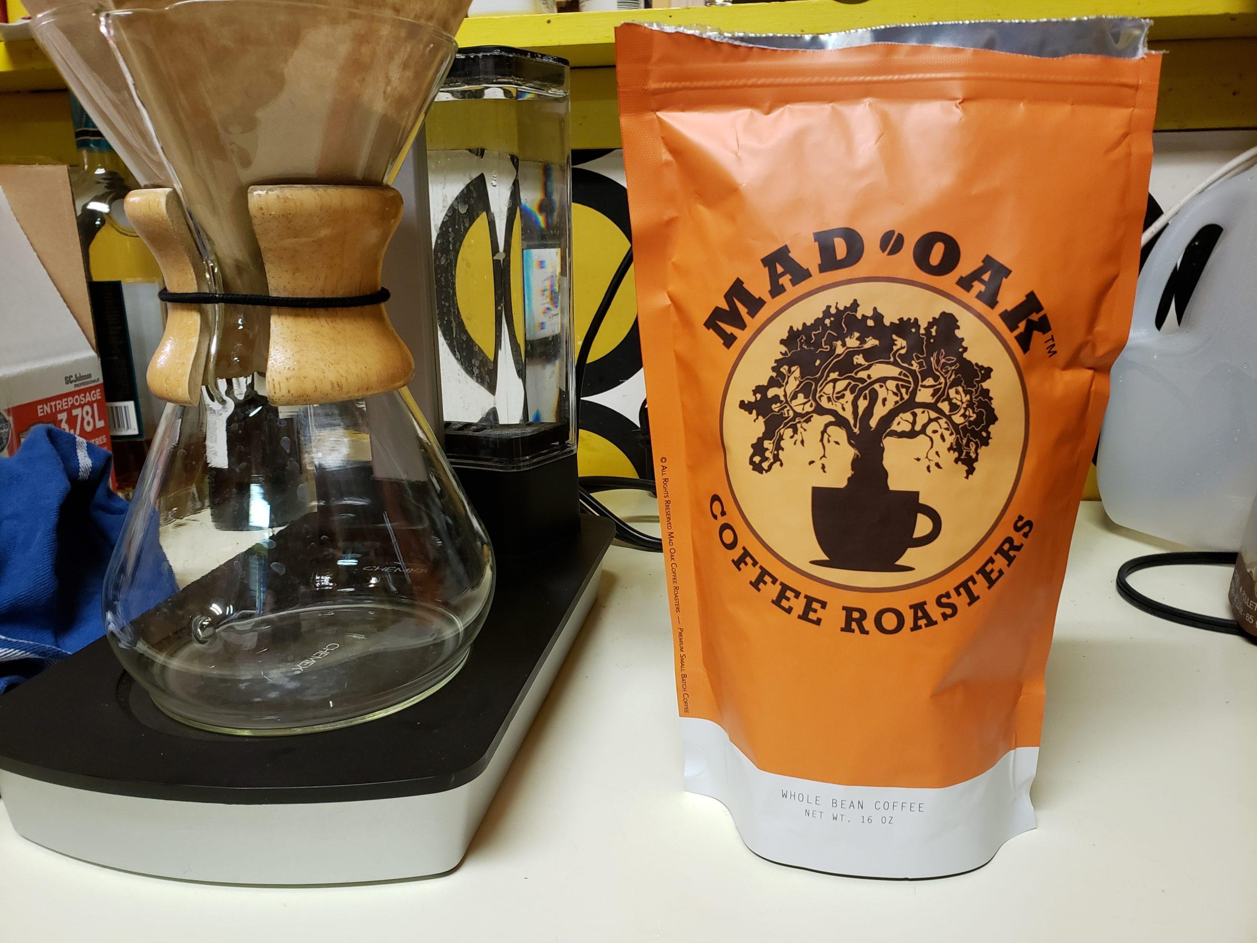 mad oak coffee bag w chemex
