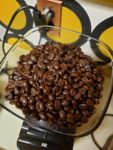 mad oak coffee beans in grinder