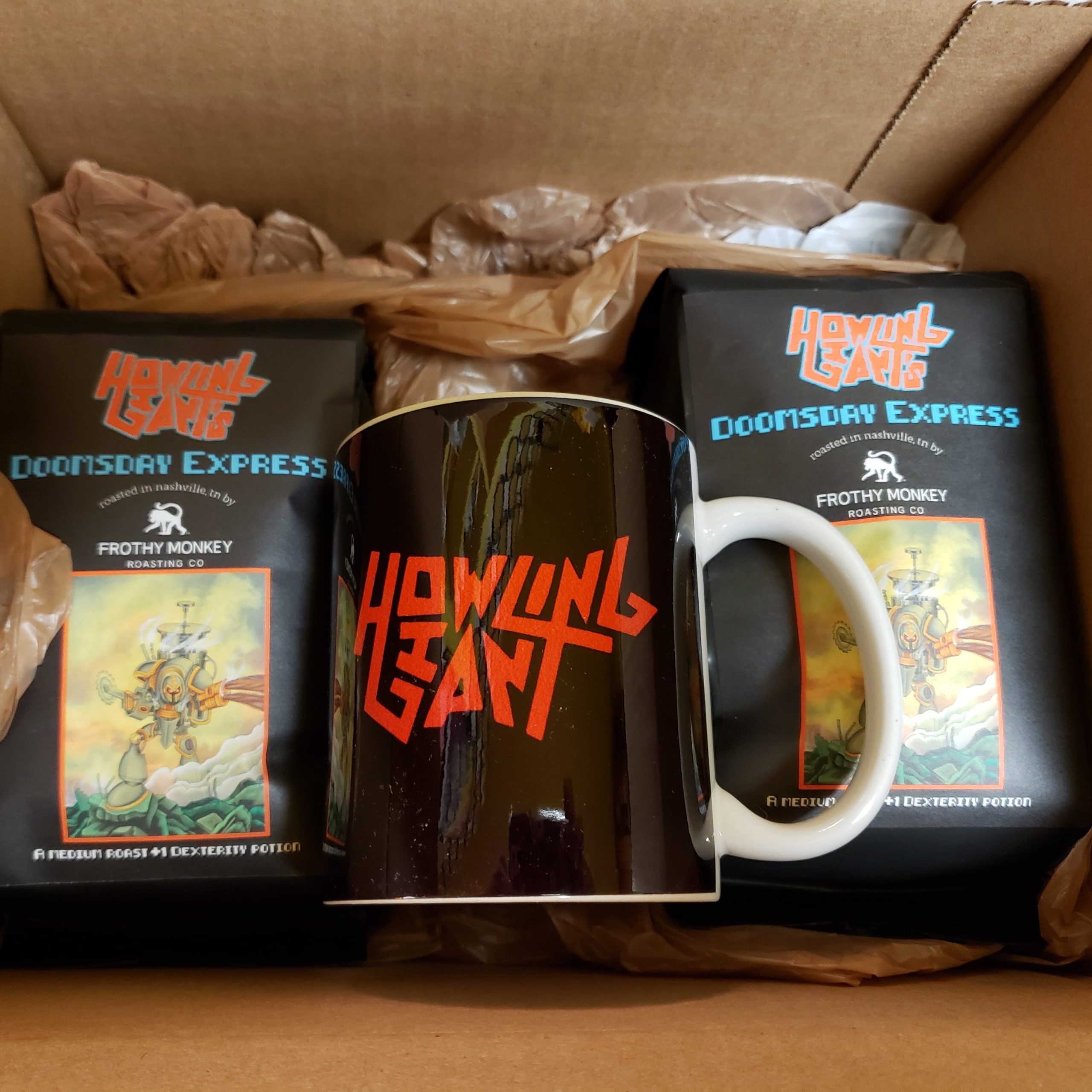 howling giant coffee bags in box