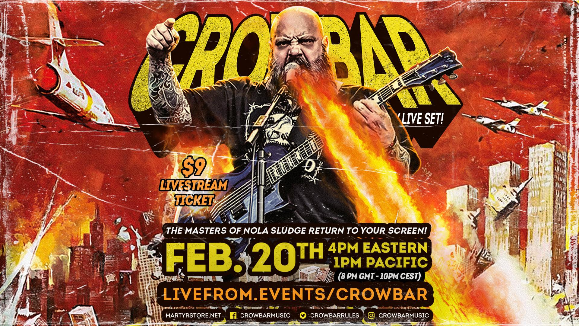 crowbar live stream banner