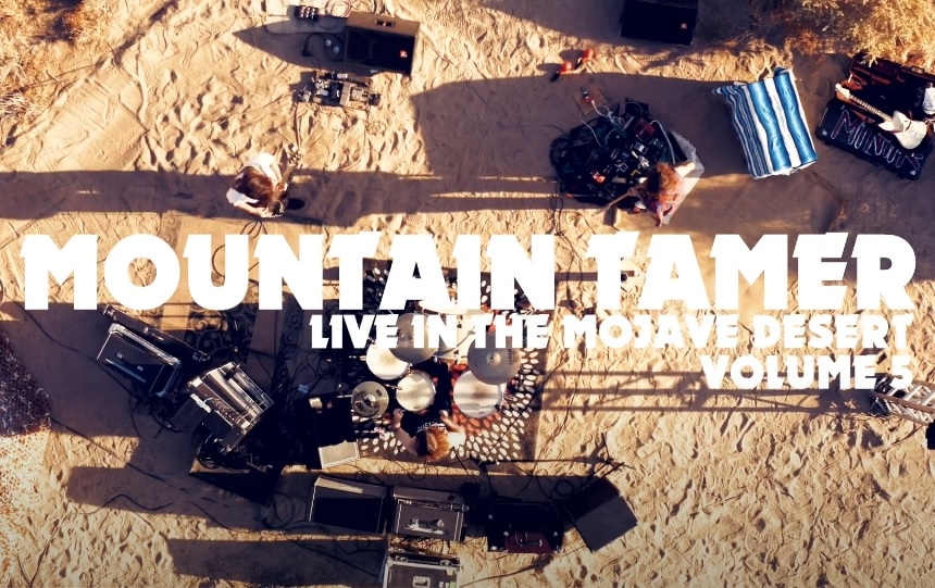 mountain tamer live in the mojave desert with text