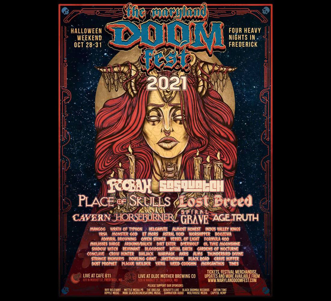 maryland doom fest 2021 poster