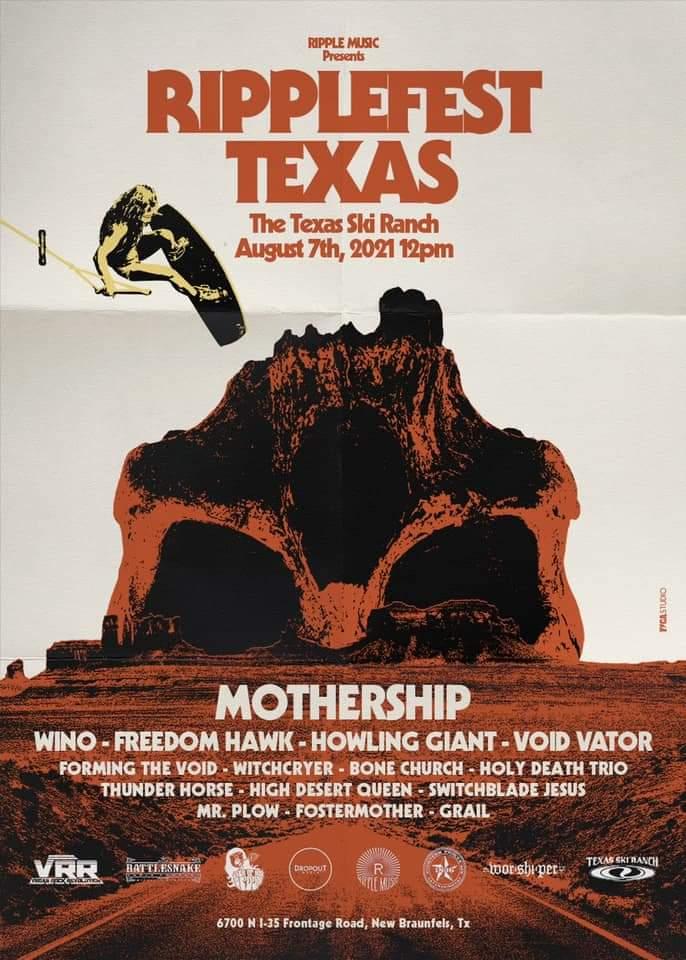 Ripplefest Texas 2021 poster mothership