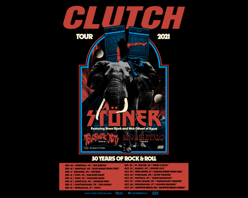 clutch new tour poster