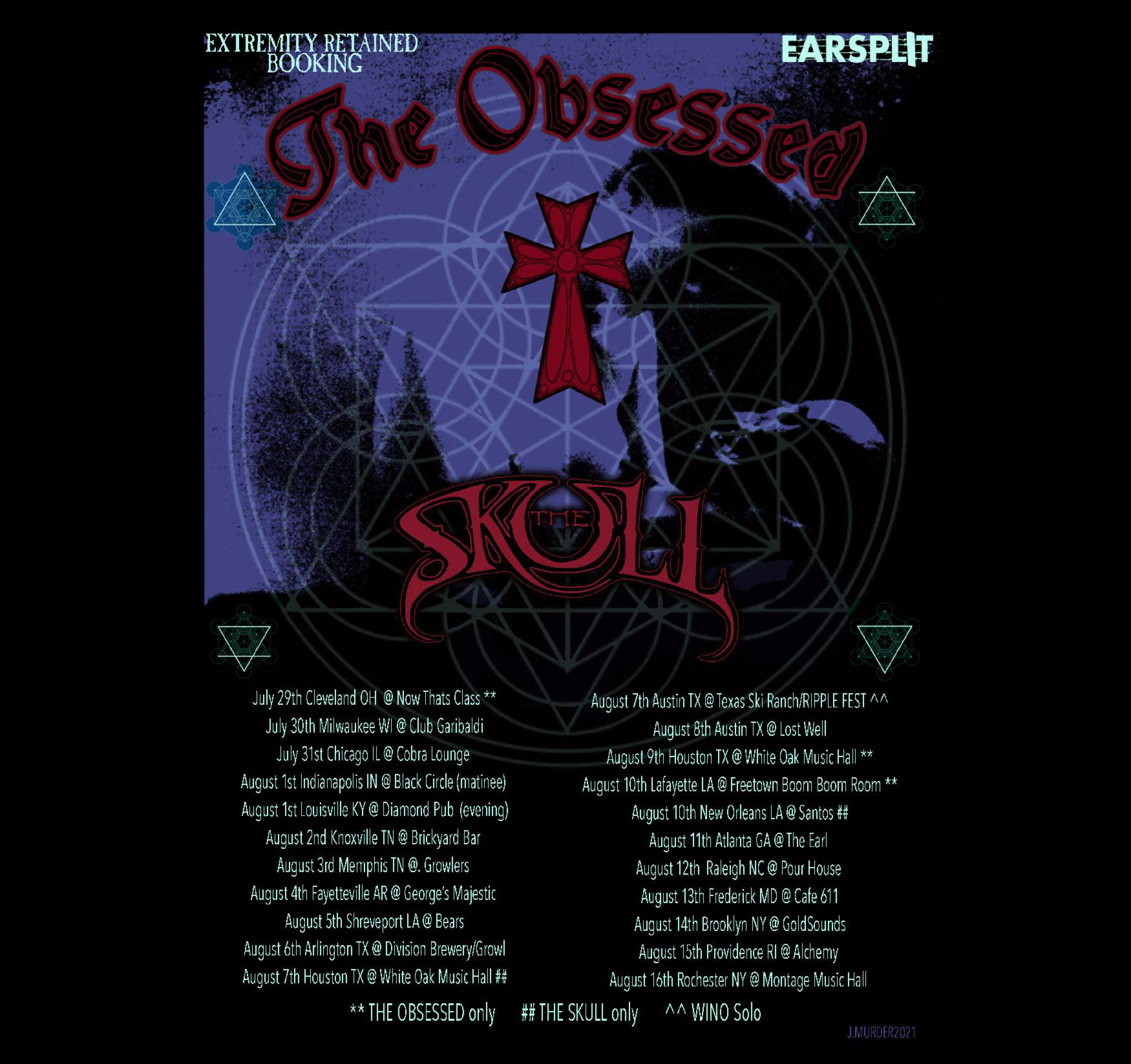 the obsessed the skull tour