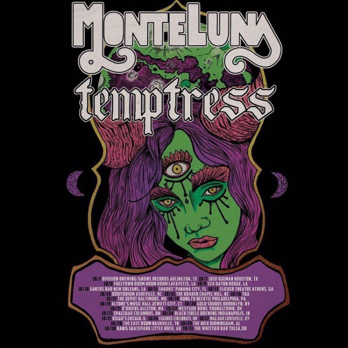monte luna temptress tour