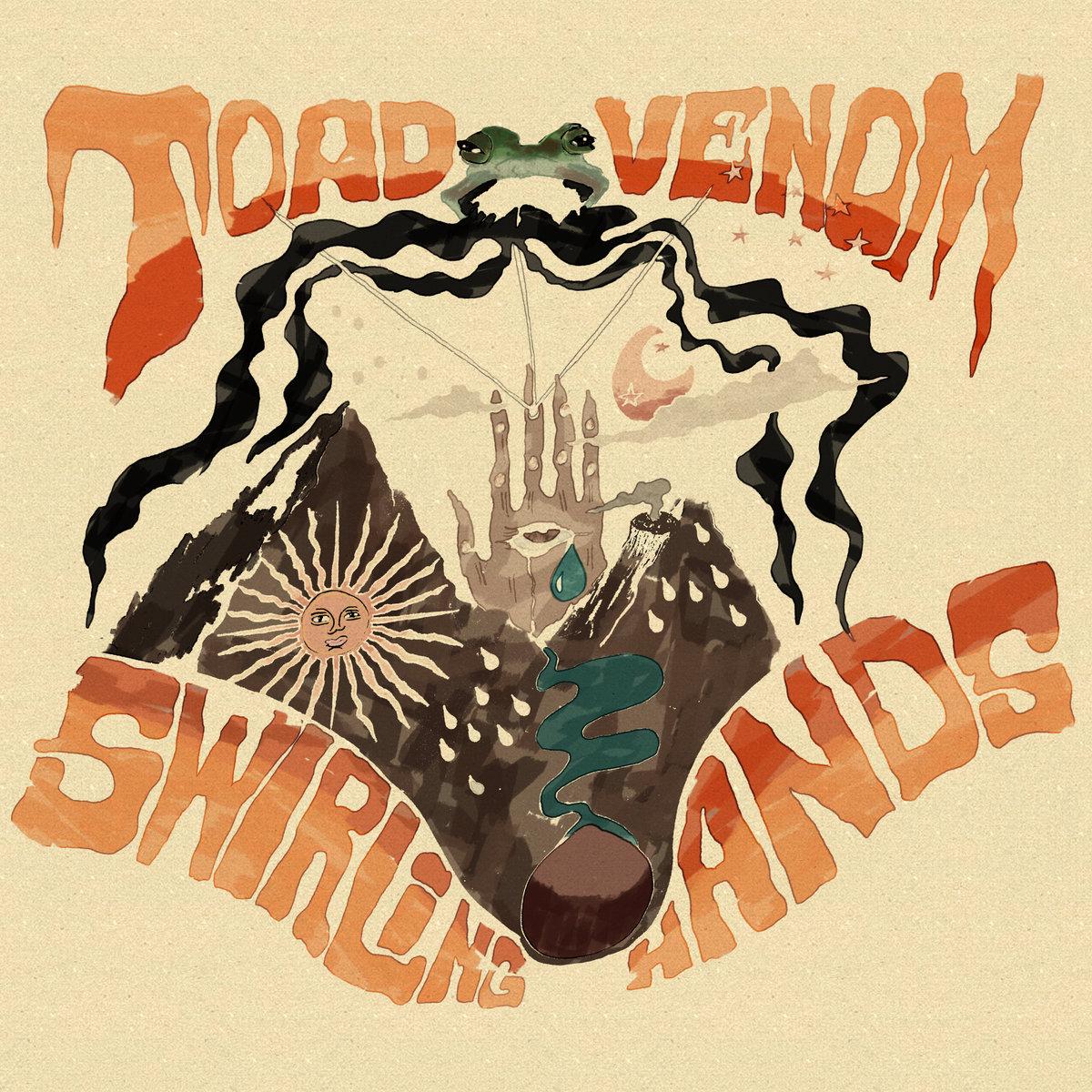 toad venom swirling hands