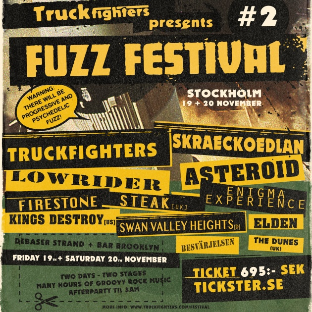 truckfighters fuzz festival 2 poster